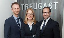 Neue Frau an der Spitze: Stefanie Salwender (Mitte) komplettiert die Treugast-Geschäftsführung im Michael Lidl (links) und Moritz Dietl