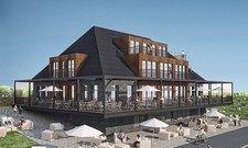 Boutique à la Heimathafen: Das Fliegerdeich ist aus einem alten Marine-Casino entstanden.