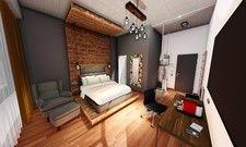So soll's aussehen: Ein Zimmer im geplanten Loftstyle Hotel Hannover (Rendering)