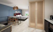 So sollen sie aussehen: Ein Beispiel für eine der neuen Suiten bei Atwell Suites