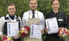 Stolze Sieger: (von links) Claudia Zöllner, Tim Mainz und Paula Graubner haben die Thüringer Jugendmeisterschaft gewonnen.