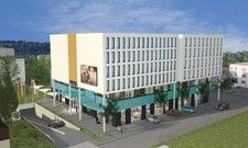 So soll's aussehen: Ein Rendering des projektierten Hotels in Rheinfelden