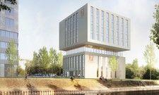 Wird Teil des Fonds: Ein Hotel der Marke 7 Days Premium in Duisburg-Binnenhafen (Rendering)