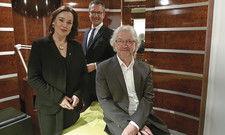 Die neuen Spa-Kabinen sind rund: (von links) Susanne Köhler, Cyrus Heydarian und Peter Droessel.