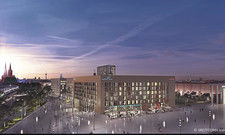 Gelände der Messe-City Köln: Dort sind gleich zwei Hotelprojekte im Bau – ein Motel One und ein Adina.