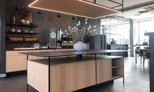 Schnörkellos: Der Gastro-Bereich des neuen Zleep Hotels Aarhus North