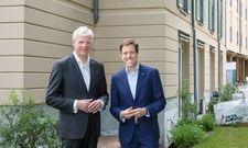 Umbranding in Potsdam: Thomas Willms, CEO Deutsche Hospitality, und Thomas Schneider, General Manager des Hotels