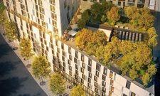 Dachterrasse des künftigen Adina: Urbane Oase in luftiger Höhe