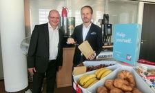 Sehen den deutschen Markt als Potenzial: Martin Bowen (links) und Mario Maxeiner