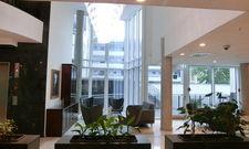 Die Lobby im neuen Hotel