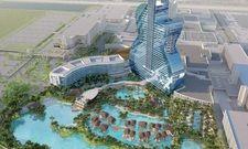 Markante Architektur: Der neue Hotel-Doppelturm in Gitarrenform