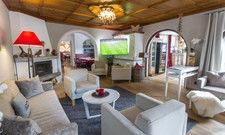 Neu gestaltet: Das Kaminzimmer im Hotel Zugspitze