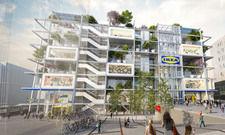 Jo&Joe zieht bei Ikea ein: Das Projekt am Wiener Westbahnhof bekommt eine begrünte Fassade und einen Park auf dem Dach