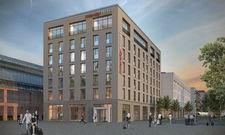 Direkt neben dem Hauptbahnhof: Das künftige Intercityhotel Wiesbaden