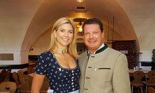 Streitbar: Bräustüberl-Wirt Peter Hubert mit Frau Caterina