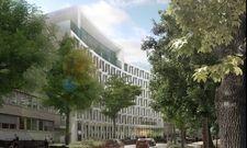 So soll's aussehen: Ein Rendering des geplanten Atlantic Hotels in Münster