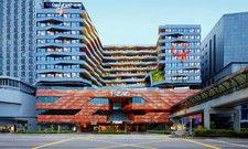Modern: Die Außenansicht des Iyf Funan Singapore