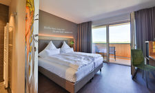 Schlichtes Design: Die hellen warmen Farben in den Zimmern sollen an Weinberge erinnern