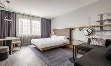 Neue Marke für den Flughafen: Ein Executive Room des künftigen Frankfurt Airport Marriott Hotels