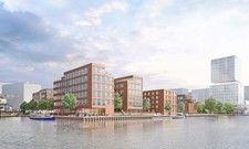 Visualisierung: So soll der Baukomplex Aqua2 mit dem The Niu Quay aussehen