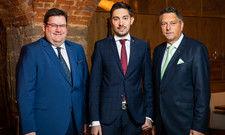 Die neuen Mehrheitseigentümer des Hotel König Albert: (von links) Jörg Siegel, Daniel Freismuth und Bertram Mayer