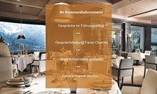 Vermittelt Gesprächskultur: Ausschnitt aus dem webbasierten Training von Travel Charme.