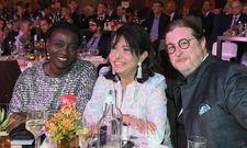 Gute Laune: Dorint Aufsichtsratschef Dirk Iserlohe mit den Charity-Ladies Auma Obama (links) und Regine Sixt (Mitte)