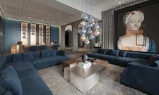 So soll's aussehen: Der Empfangsbereich im künftigen Boutique Hotel Luc