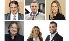 Nominiert: (von links oben im Uhrzeigersinn) Alexander Aisenbrey, Korbinian Kohler, Martina Maly-Gärtner, Rahman Neiro & Homeira Amiri, Ariel Schiff