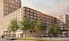 So soll es aussehen: Das geplante Doppelhotel mit Kongressbereich