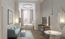 Absolut ruhig: Dank des dreifach verglasten Fensters können Gäste im Frasers Suites in Hamburg gut schlafen