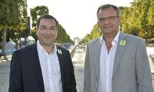 Konnten überdurchschnittlich gute Sommer-Ergebnisse verkünden: (von links) Logis-Generaldirektor Karim Soleilhavoup und Fabrice Galland, Präsident der Logis Hotels & Restaurants.