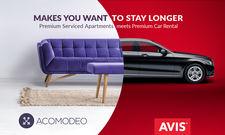 Neue Partner: Apartment-Vermittler Acomodeo und Mietwagen-Anbieter Avis