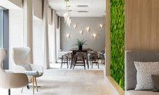 Von der Natur inspiriert: Das üppige Grün des Humboldthain Parks wird mit begrünten Wänden und Mustern im Hotel fortgesetzt
