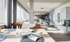 Maritim: Die Inneneinrichtung des Hotel-Restaurants Siel59 in Rendsburg setzt auf das Thema Wattenmeer.