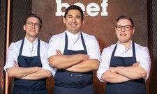 Bereit fürs Kochduell: Tohru Nakamura (Mitte) mit seinem Chef-Patissier Thies Henkel (rechts) und Sous-Chef Dominik Schmid