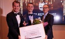 Glückwunsch (v.l.): Arian Röhrle, Präsident AICR Deutschland, Sascha Haiss Gewinner, und Timo Maier Front Office Manager Brenner's Park-Hotel