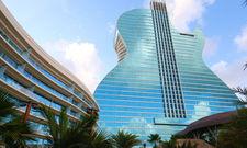 Imposant: Der Anbau des Seminole Hard Rock Hotel & Casino Hollywood ist in Form einer Gitarre gestaltet