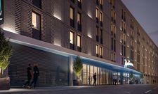 In Planung: Das Radisson Hotel Leipzig unweit des Hauptbahnhofs