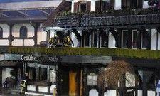 Nur noch ein Ruine: Das Stammhaus der Traube ist zerstört