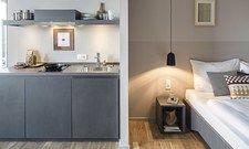 Kurzer Weg zum Kühlschrank: Bold bietet außer normalen Hotelzimmern auch Apartments mit Küchenzeile an.