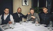 Starkes Quartett: (von links) Barchef Michael Elter, Restaurantleiter Yuriy Apelyushynskyy, Küchenchef Daniel Gottschlich und Souschef Marius Sprenger