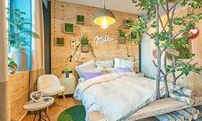 """Inspiration Milka: Das Hotelzimmer """"Gerda"""" ist der gleichnamigen Kuh gewidmet und als Pop-up-Konzept in drei deutschen Hotels buchbar"""