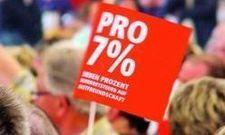 Pro 7 Prozent: Die Steuerangleichung ist ein langjähriger Wunsch deutscher Gastronomen