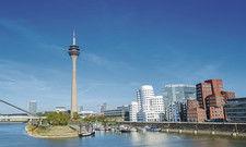 Düsseldorfer Medienhafen: Die NRW-Landeshauptstadt hat 2019 den RevPar am stärksten gesteigert.