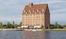 Imposantes Gebäude: Das Hotel Speicher am Ziegelsee wurde bis in die frühen 1990er-Jahre als Getreidespeicher genutzt.