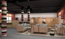 Schick: Lobby im ibis Styles Bayreuth