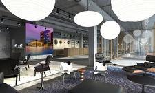 Multifunktional: Die Lobby im künftigen aletto Hotel Potsdamer Platz