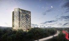 So soll's aussehen: Ein Rendering des geplanten Steigenberger Kongress Hotel Frankfurt Airport