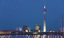 Medienhafen Düsseldorf:Die NRW-Landeshauptstadt hat im vergangenen Jahr die beste Entwicklung bei den Kennzahlen verzeichnet.
